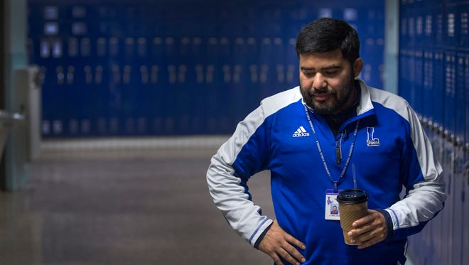 Oscar Orellana, a coach and guidance counselor in the Lakewood School District.