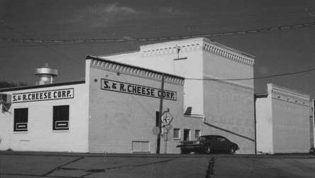 The S & R Cheese Company building as it looked in 1975.