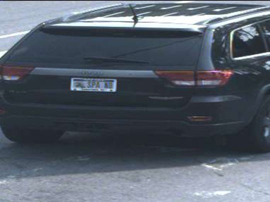 A surveillance photo of Deluca's vehicle.