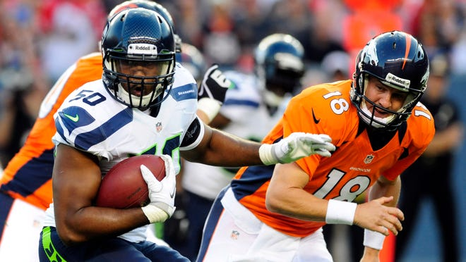 Broncos QB Peyton Manning must beware Seahawks defenders like LB K.J. Wright, who's strong in pass coverage.