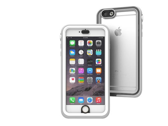 The iPhone 6 Plus case from Catalyst can withstand water depths up to 16.4 feet and drops up to 6.6 feet.