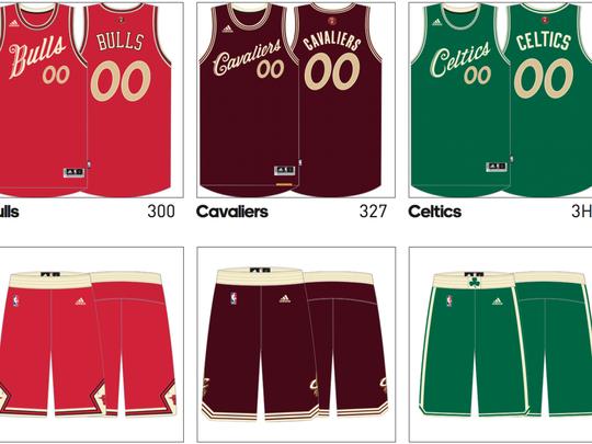 More NBA Christmas designs.