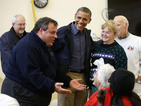 Barack Obama, Chris Christie, Craig Fugate