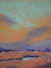 """Fall Salt Marshes,"" pastel by Marie Cole"