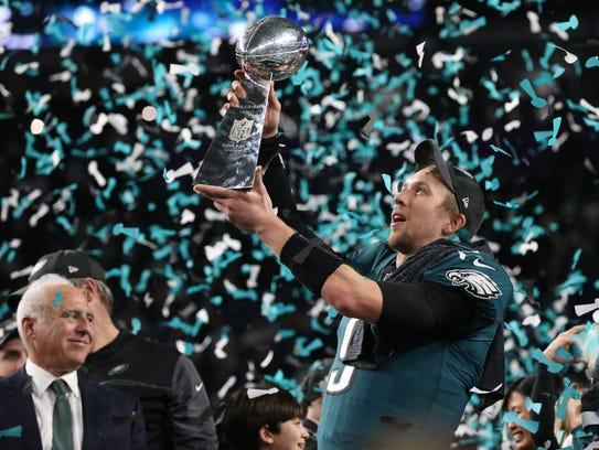 Feb 4, 2018: Philadelphia Eagles quarterback Nick Foles