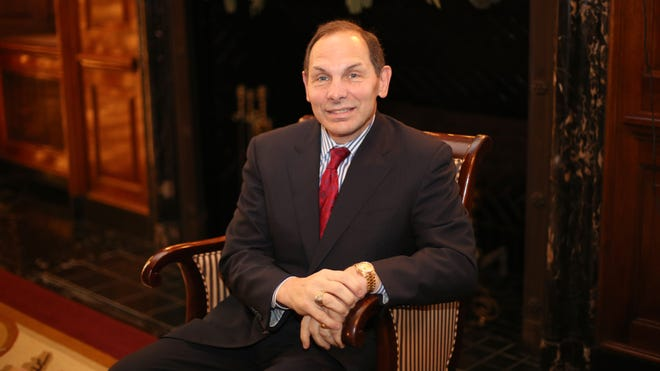 Former P&G CEO Robert McDonald, photographed inside the Queen City Club.