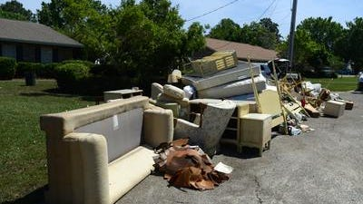 Escambia County's free storm debris drop off site at John R. Jones Athletic Park located at 555 E. Nine Mile Road, will close permanently at 5 p.m. Friday.