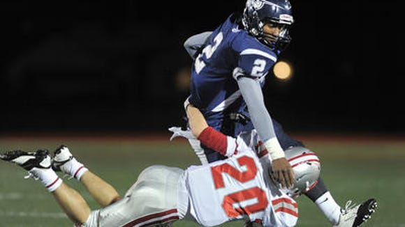 East Irondequoit Eastridge quarterback Jametrius Lewis last week in the sectional quarterfinal.