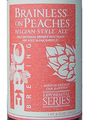 Brainless on Peaches is from Epic Brewing Co. in Salt Lake City.