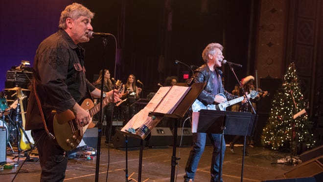 Bobby Bandiera and Jon Bon Jovi at Bandiera's  Hope Concert at the Count Basie Theatre in Red Bank, NJ, on Wednesday, December 23, 2015.