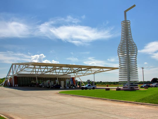 POPS' neon soda bottle is 66 feet tall, in homage to