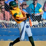 CMR's McCall Enott blasts a solo homerun during Tuesday's game against Great Falls High.