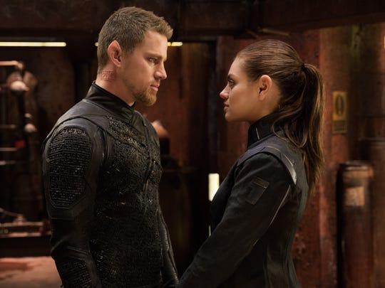 "Channing Tatum and Mila Kunis star in ""Jupiter Ascending."""