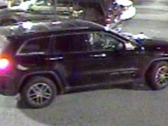 A Jeep Grand Cherokee, possibly 2011, is suspected of being involved in a theft at the Springettsbury Walmart.