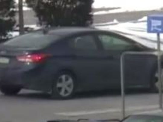 A car believed to be connected with a man suspected of theft at the Springettsbury Township Walmart.