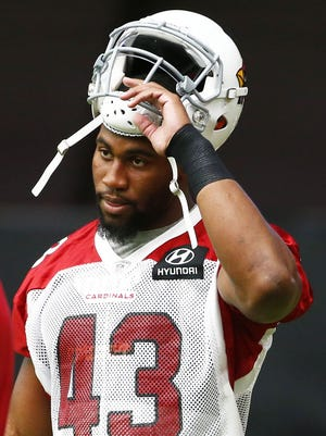 Arizona Cardinals (43) Haason Reddick during the opening day of training camp on Jul. 22, 2017 in Glendale, AZ.