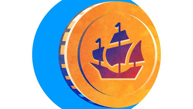 TCPalm's new badge includes a Spanish galleon resembling the 1715 fleet that sank off the Treasure Coast more than 300 years ago.