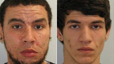 Brian Perry Jr., 21 (left) and Ilker Ceylan, 18 (right) were arrested on drug charges