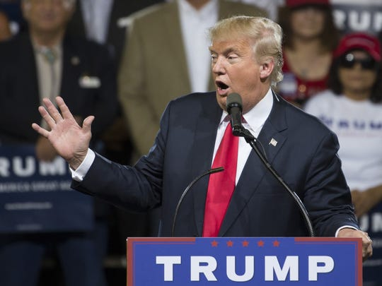 Presumptive Republican presidential nominee Donald Trump held a rally in Phoenix on Saturday, June 18, 2016.