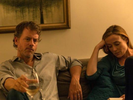 """Greg Kinnear, left, and Jennifer Ehle in a scene from, """"Little Men."""""""