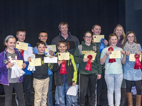 Student winners of the 2017 Vermont History Day contest from Lyndon Town School.