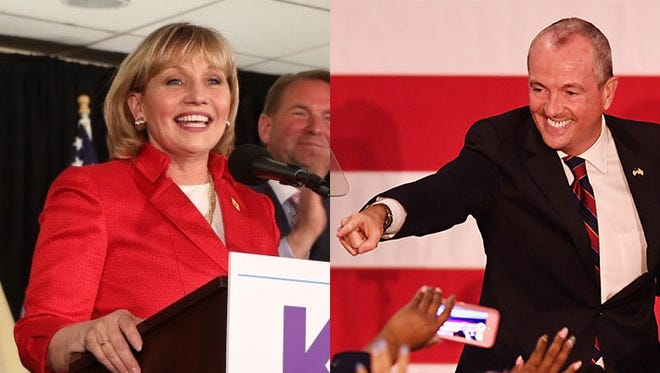 Kim Guadagno and Phil Murphy won the New Jersey primary bids to replace Gov. Chris Christie.