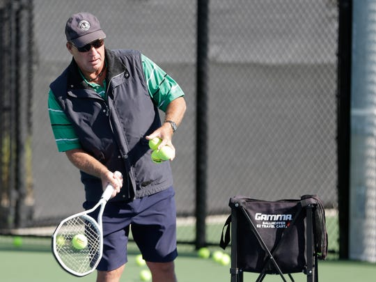 In this Tuesday, Dec. 12, 2017 photo, Ivan Lendl works with young tennis players he coaches at the USTA National Campus in Orlando. Now 59, Lendl can now be found playing golf at the Windsor Club in Vero Beach, where his family spends the winters.
