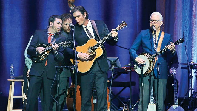 Steve Martin and The Steep Canyon Rangers perform at Kodak Hall at Eastman Theatre during the Xerox Rochester International Jazz Festival in Rochester, N.Y. on Saturday, June 21 2014.