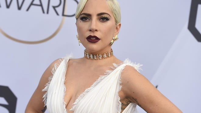 Lady Gaga arrives at the Screen Actors Guild Awards in January 2019. She will talk live on Tuesday in a virtual event with Cynthia Germanotta, her mom and co-founder of the Born This Way Foundation.