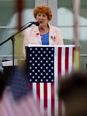 Retired Rear Admiral Louise C. Wilmot , the first woman to command a U.S. Naval base, spoke Monday at the Terraces in Bonita Springs .