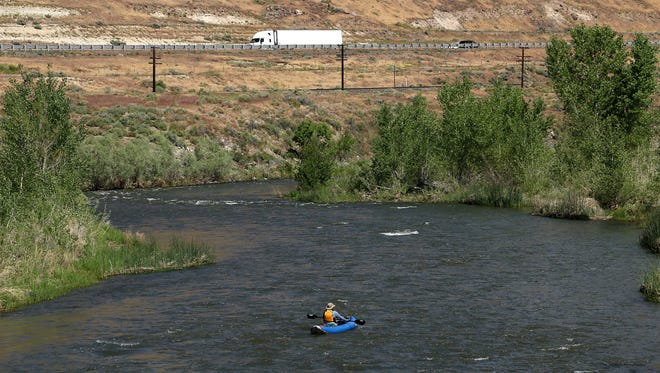 The Truckee River from Reno to USA Parkway represents a confluence of nature and urban life.