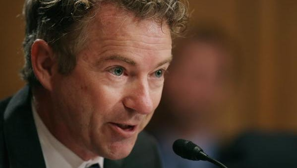 Sen. Rand Paul, R-Ky., said Congress should have acted to declare war when the U.S. first carried out air strikes against the Islamic State terrorist group in late September.