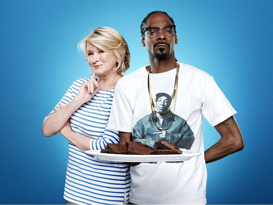 Martha Stewart and Snoop Dogg.
