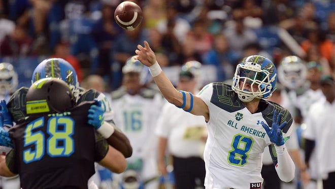 Quarterback Blake Barnett (8) is one of the top prospects in a highly regarded Alabama recruiting class.