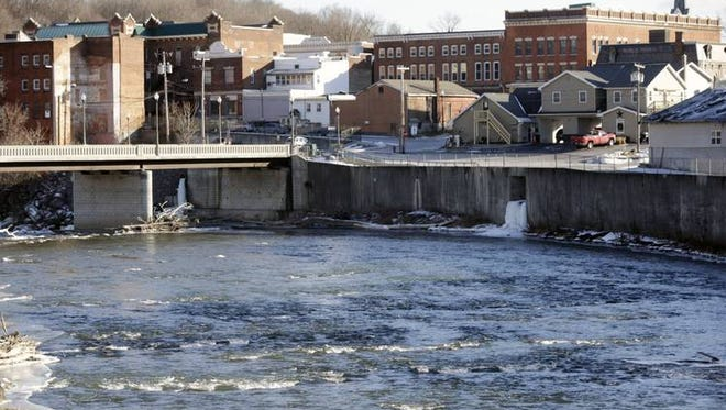The village of Hoosick Falls, seen here in January 2016, is at the center of an escalating feud between Gov. Andrew Cuomo and President Barack Obama's environmental regulators.