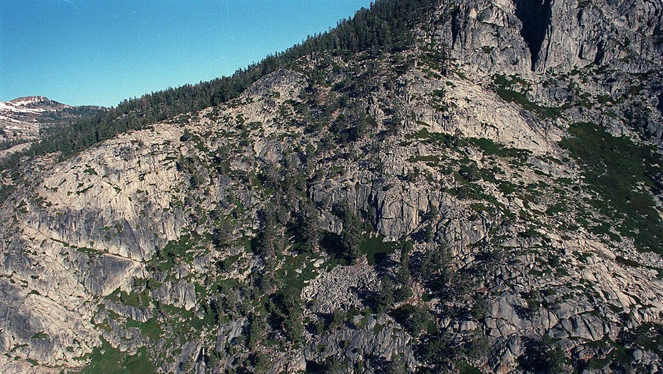 This file photo shows the rugged terrain people face