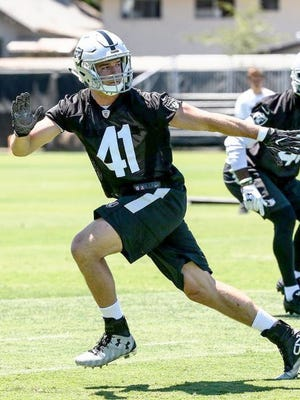Novi High grad and former Ferris State player Brady Sheldon made the Oakland Raiders' 53-man roster at the end of the season.