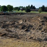Construction is underway for a new soccer/lacrosse field at the University of Great Falls, Tuesday, September 1, 2015.