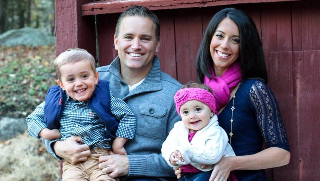 Phil Oliva Jr. of Somers with his wife Jessica and two children Philip and Daniela. Oliva is seeking the Republican nomination in the 18th Congressional District.