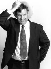 Randall Reeder has the look of humorist Will Rogers.