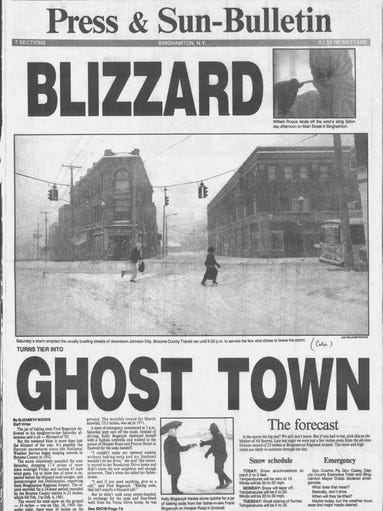 Almost to the day, massive snowstorms hit the Binghamton
