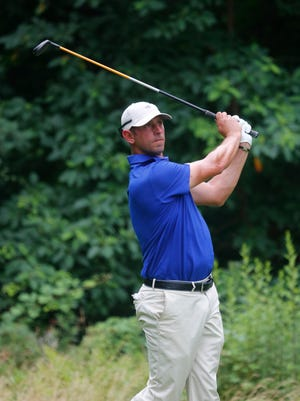 Danny Balin at the 6th tee in the Westchester Open Golf Tournament at Wykagyl Country Club in New Rochelle on Jul. 11, 2017.