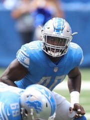 Jarrad Davis had 96 tackles, two sacks and an INT in 14 games as a rookie last season.