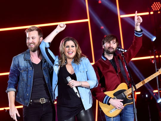 Lady Antebellum (from left, Charles Kelley, Hillary Scott and Dave Haywood) will perform on April 5 at White River State Park.