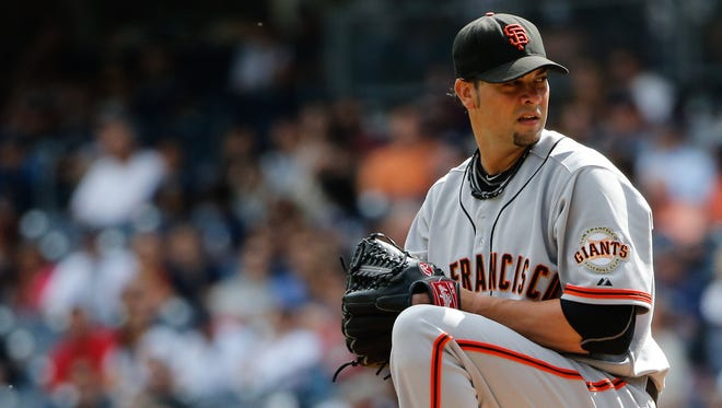 Giants starting pitcher Ryan Vogelsong will return on a one-year deal.