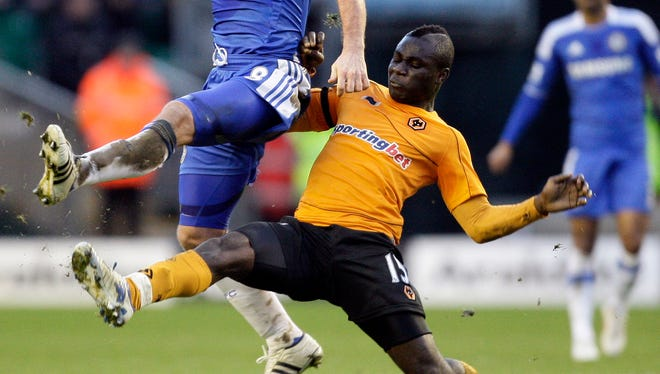 Frimpong during his time with Wolves in 2012.