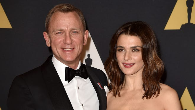 Daniel Craig and Rachel Weisz attend the Academy of Motion Picture Arts and Sciences' 7th annual Governors Awards on Nov. 14, 2015 in Hollywood.