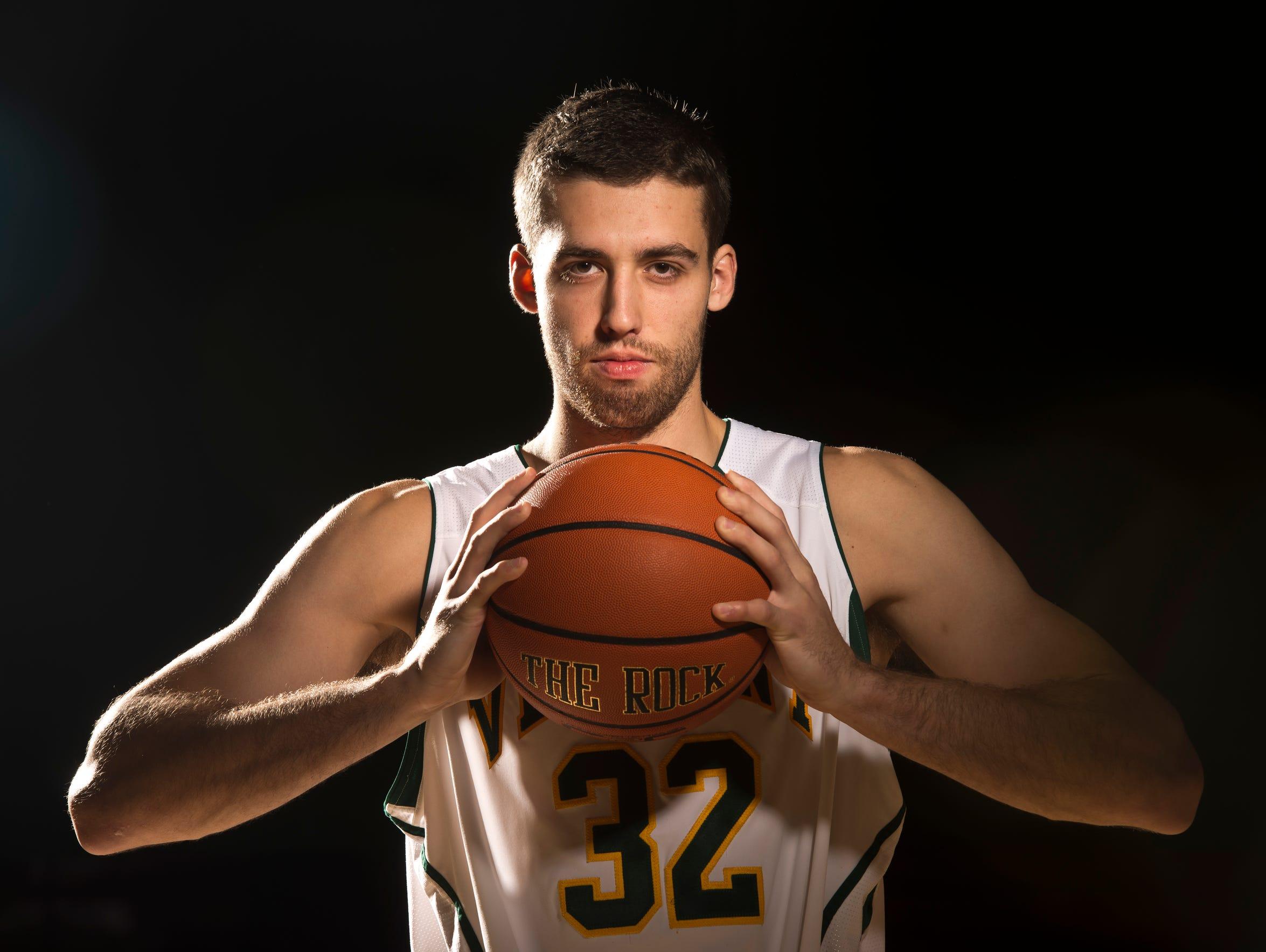 University of Vermont men's basketball forward Ethan