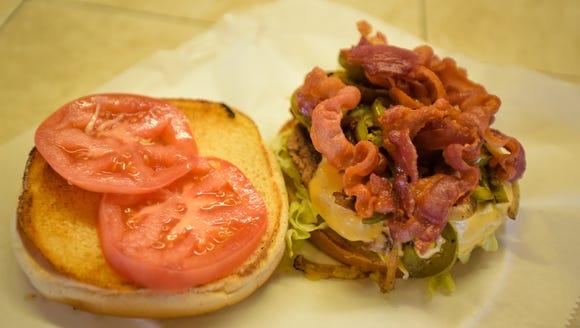 Loaded jalapeno burger at Les Vieux Chenes Golf Course