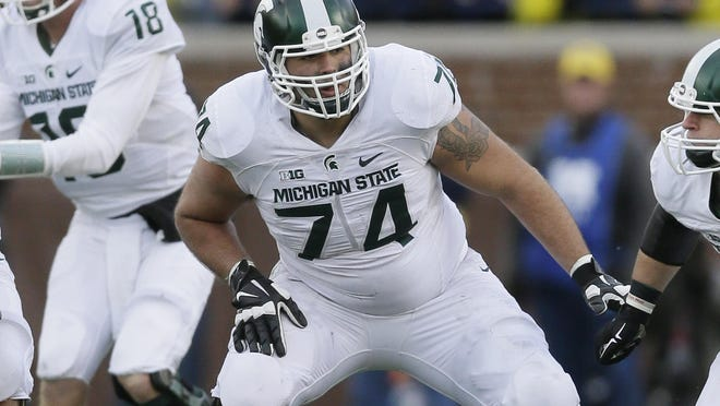 "NFL analyst Mike Mayock said the Lions should be ""thrilled"" if Michigan State offensive tackle Jack Conklin is still available at No. 16."